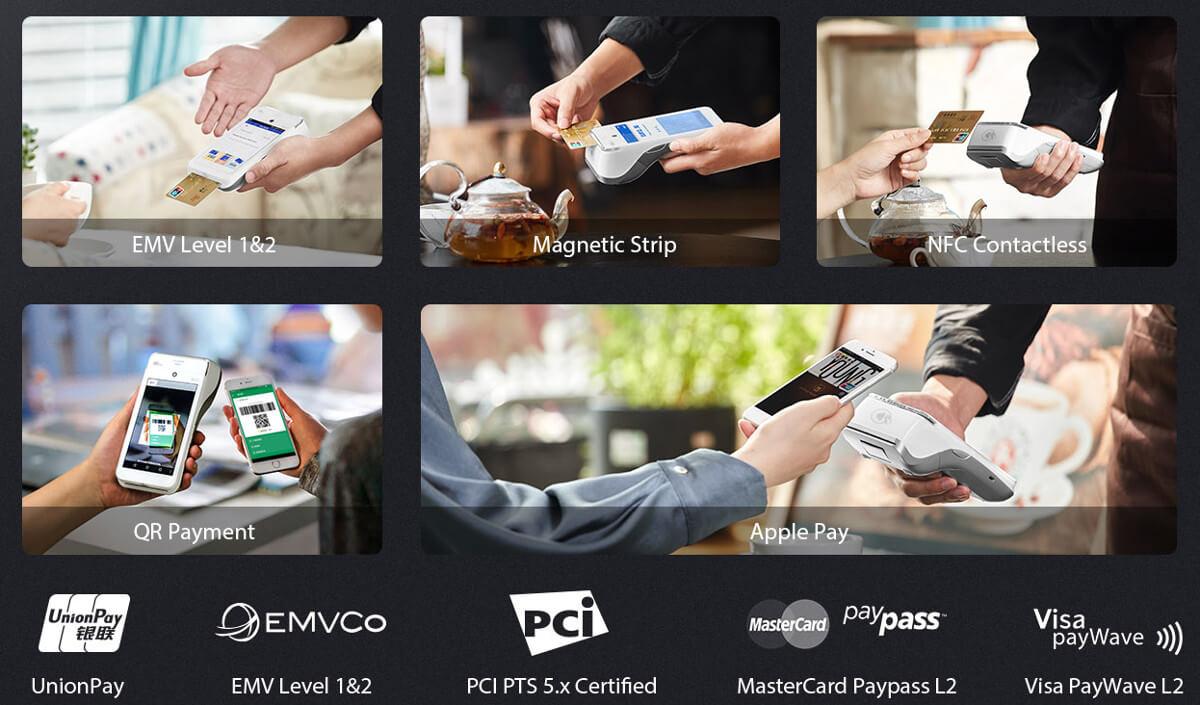 caisse et tpe intégré pax A920 portable